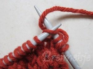 Sjaal breien terugpen