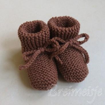 Babysokjes ribbels breien patroon