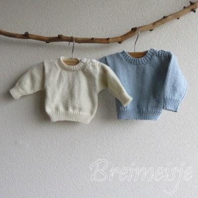Babytruitje breien patroon maat 56