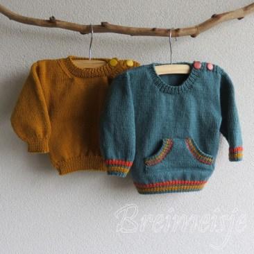 Babytruitje breien patroon maat 74-80