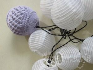 Ballen breien met lichtsnoer Ikea