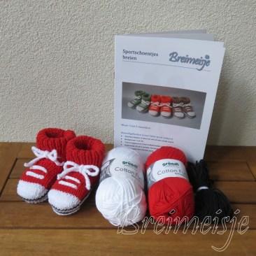 Breipakket sportschoentjes rood