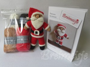 Kerstman breien pakket