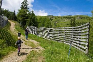 Wanderziel bald erreicht - Familienurlaub Österreich