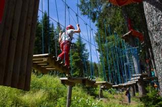 Hochseilweg im Kletterpark am Katschberg - Familienurlaub Österreich
