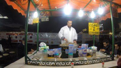 Schnecken sind in Marrakech eine Delikatesse