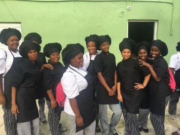 Teilnehmer der Kochklasse