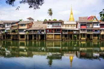 Urlaub in Thailand - Sukhapiban-Road von gegenüber, Foto Martin Cyris