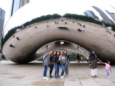 "Krasses Selfie - vor ""The Bean"" im Chicagoer Millenium-Park. Bild: Geiselhart"