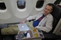 In der Business Class von Turkish Airlines