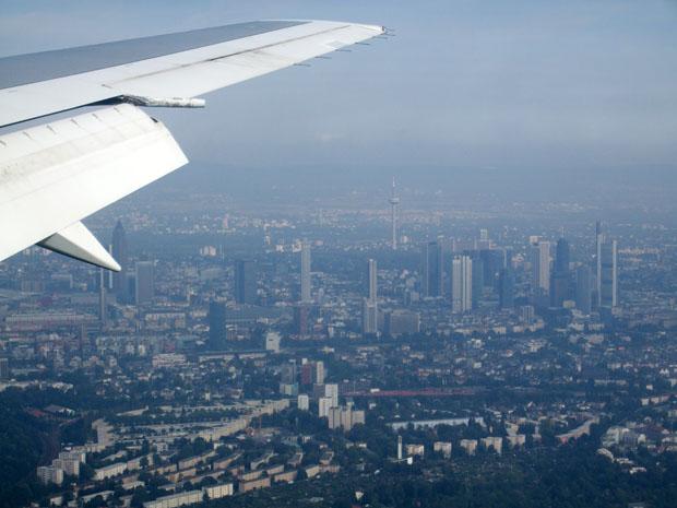 Landeanflug auf Frankfurt.
