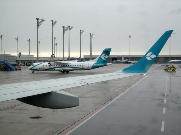 Mit Air Dolomiti von München nach Rom.