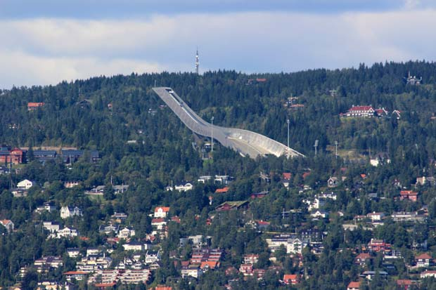 Die Skisprungschanze am Holmenkollen.