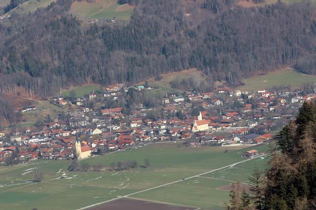 Blick hinüber nach Nußdorf