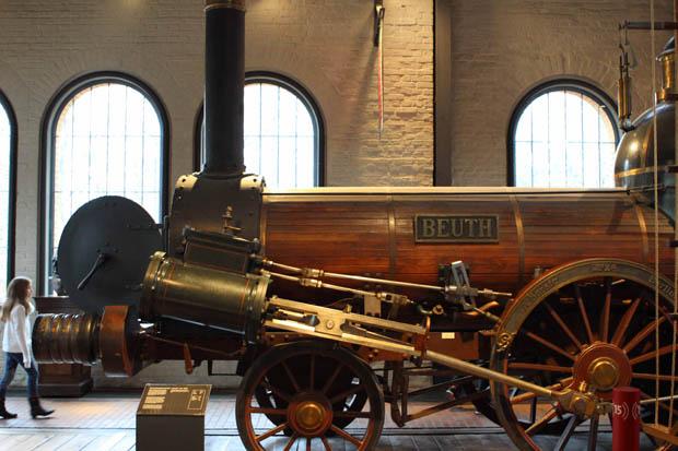 Die ausgestellte Beuth ist ein Nachbau. Das Original stammt aus dem Jahre 1912