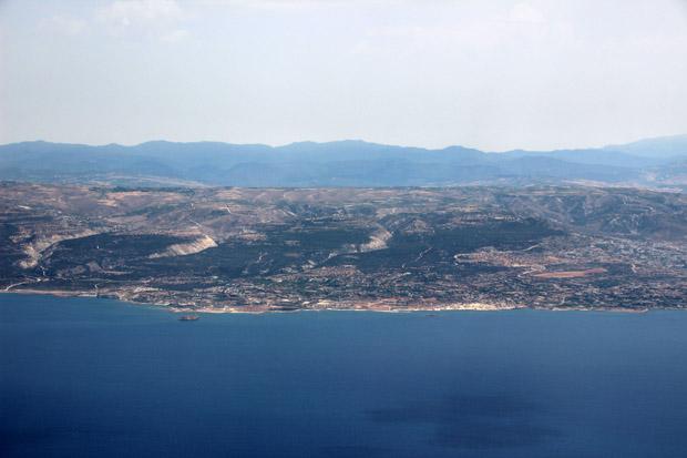 Paphos war im Landanflug gut zu sehen