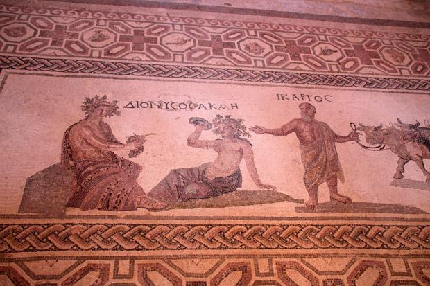 Das Haus des Dionysos ist nach diesem Mosaik mit dem Weingott benannt