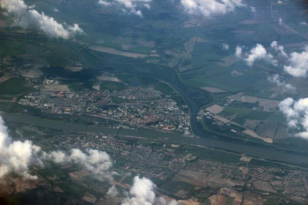 Die Donau kurz vor Bratislava