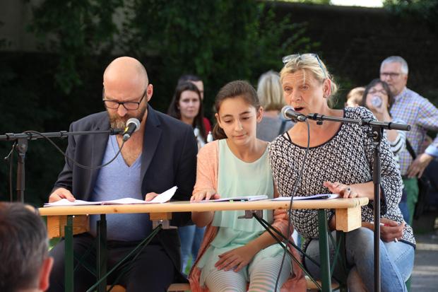 Am Blauen Büdchen fanden Lesungen von Ruhrgebietsautoren statt