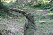 Dieser Graben ist ein Relikt des Bergbaus