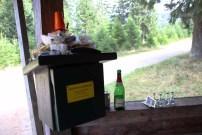Zugemüllte Stempelstelle der Harzer Wandernadel