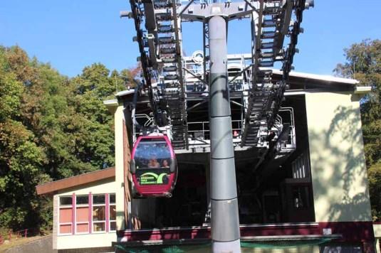 Gondel der Seilbahn zum Hexentanzplatz in Thale