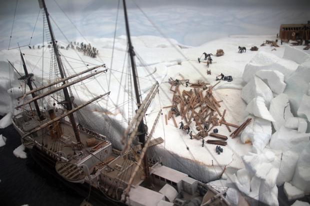 Modell der deutschen Antarktisexpedition von 1911-1912