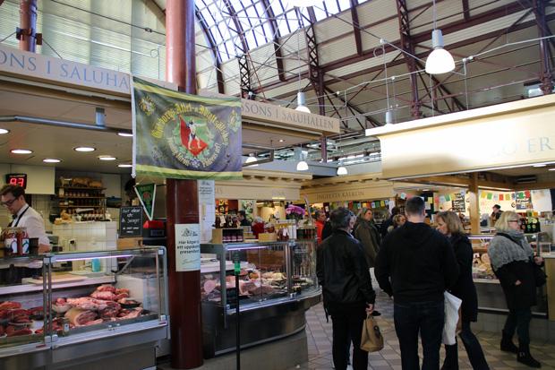 Blick ins Innere der Markthalle