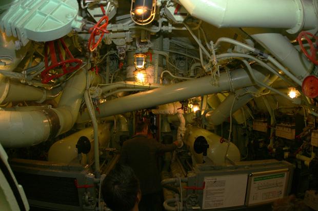 Blick ins Innere des U-Boots