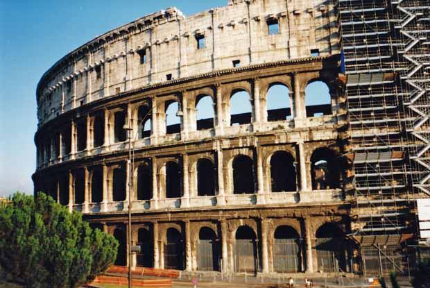 Imposant wirkt das Kolosseum