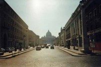 Blick zum Vatikan mit dem Petersdom