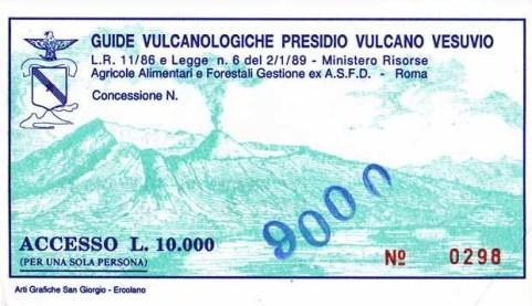 Eintrittskarte zum Kraterrand des Vesuvs