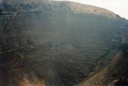 Der Krater des Vesuvs