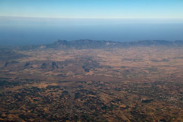 Blick in Richtung Nordküste Zyperns