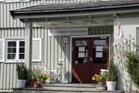 Der Stadtteil Bakklandet in Trondheim in Norwegen mit dem Pilgerzentrum am Olavsweg