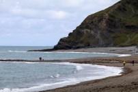 Küstenabschnitt bei Aberystwyth in Wales