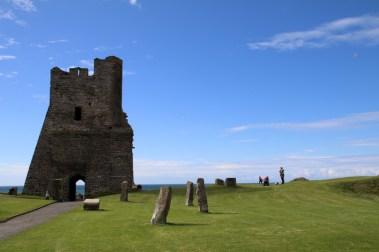 Blick vom Aberystwyth Castle in Richtung Meer
