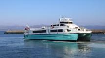 Mit bis zu 40 Knoten jagt die MS Tyrhaug über den Trondheimfjord nach Ørland