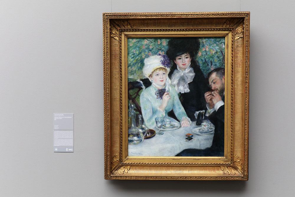Auguste Renoir - Nach dem Mittagessen, 1879 Gemälde im Städel Museum in Frankfurt