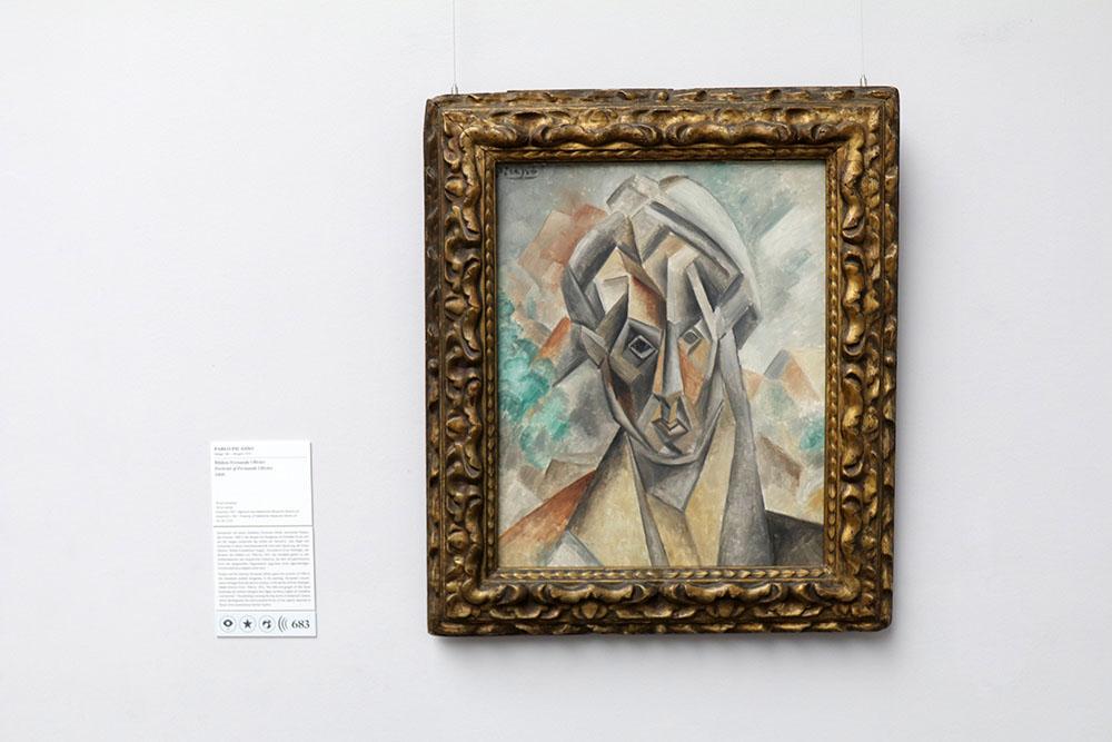 Pablo Picasso - Bildnis Fernande Olivier von 1909 im Städel Museum in Frankfurt