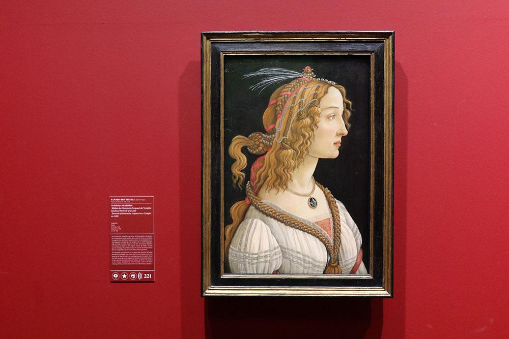 Sandro Botticelli - Weibliches Idealbildnis (Bildnis der Simonetta Vespucci) im Städel Museum Frankfurt, Kunst um 1480