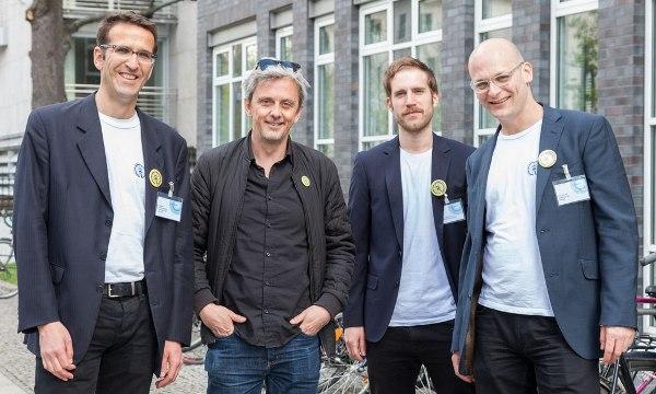 Heinrich Strößenreuther, Mikael Colville-Andersen, Maximilian Hoor und Tim Birkholz, Foto: Antonia Richter