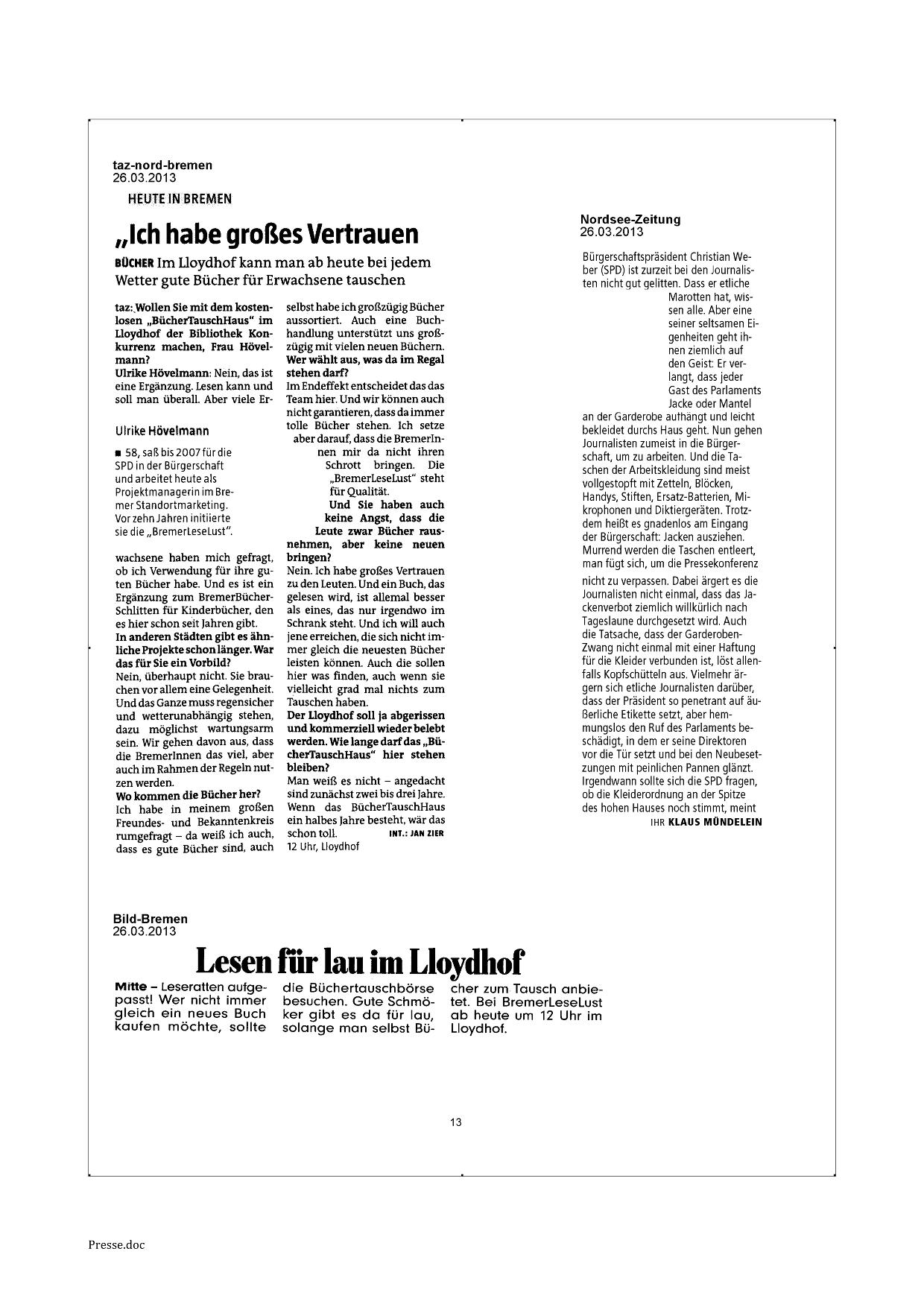 Archiv_BremerLeseLust_Buechertauschhaus_Presse