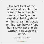 Master as a writer takes discipline