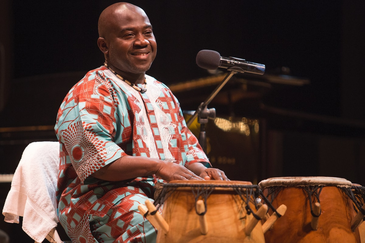 Kofi Mawuko performs during the Martin Luther King Jr. Day Convocation.