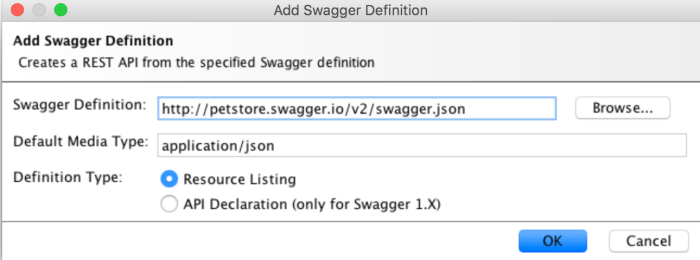 add swagger definition