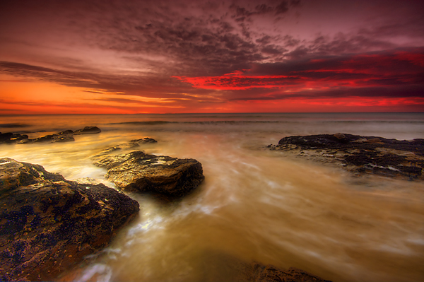 Red Sunrise, Lorne, Victoria.