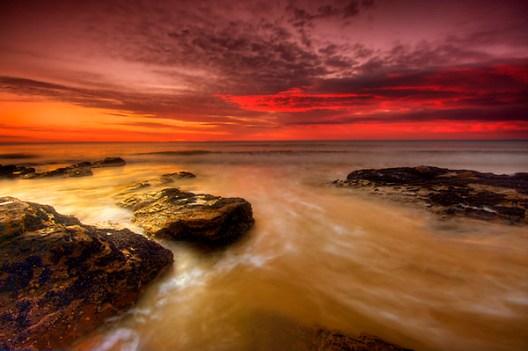 Red Sunrise, Lorne, Victoria.