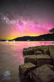 Aurora over the Tessellated Pavement 'Loaves', Tasmania