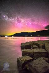 Aurora over the Tessellated Pavement 'Loaves', Tasmania
